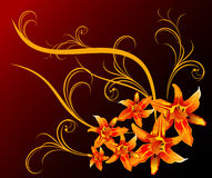 Floral abstract design Stock Photography