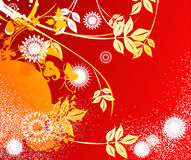 Floral abstract design Stock Photo