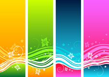 Floral Abstract Elements Stock Photography