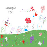 Floral abstract  greeting card Royalty Free Stock Photo