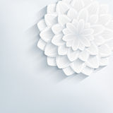 Floral abstract grey background with 3d flower Royalty Free Stock Photography