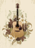 Floral abstract with guitar Royalty Free Stock Photo