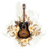 Floral abstract with guitar Stock Image