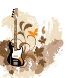 Floral abstract with guitar Stock Photography