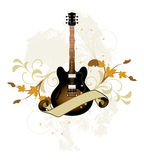 Floral abstract with guitar Stock Photo
