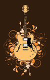 Floral abstract with guitar Royalty Free Stock Images