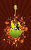 Floral abstract with guitar Royalty Free Stock Photos
