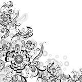 Floral abstract pattern in gray Stock Images