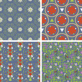 Floral and abstract patterns Stock Photos