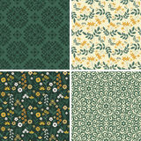 Floral and abstract patterns Stock Images