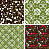 Floral and abstract patterns Stock Photography