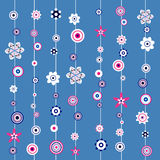 Floral Abstract seamless pattern Stock Photo