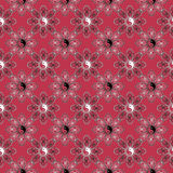 Floral abstract  seamless pattern,    red background Royalty Free Stock Image
