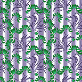 Floral abstract  seamless pattern,white background striped Royalty Free Stock Photos