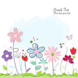 Floral abstract spring flowers greeting card Royalty Free Stock Photography