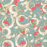 Floral abstract turquoise pattern Royalty Free Stock Photography