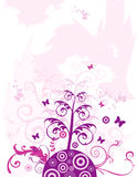 Floral abstract vector. Composition illustration Stock Photography