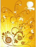 Floral abstract vector Royalty Free Stock Photo