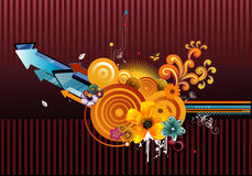 Floral abstract vector Stock Photography
