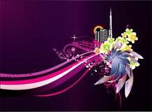 Floral abstract vector Stock Photos