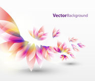 Floral abstract vector background. Floral abstract vector illustration with colorful leaves for background Stock Image