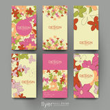 Floral abstract vector brochure template. Flyer Layout Stock Photo