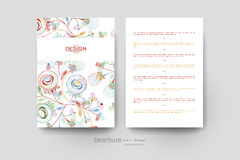 Floral abstract vector brochure template. Flyer Layout Royalty Free Stock Photos