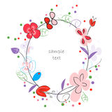 Floral abstract vector greeting card Stock Photo