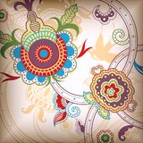 Floral abstrato Imagens de Stock