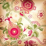 Floral abstrato ilustração stock