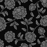 Floral adornado del punto Imagenes de archivo