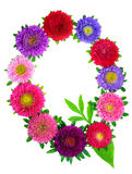 Floral alphabet Royalty Free Stock Photography