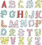 Floral Alphabet Stock Photography