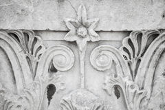 Floral ancient stone carving ornament Royalty Free Stock Image