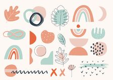 Free Floral And Abstract Earthy Terracotta Shapes And Elements. Modern Vector Design Stock Photo - 190386780