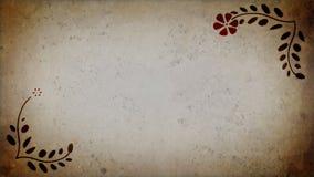 Floral animado en el papel viejo libre illustration