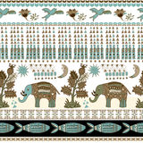 Floral and animal seamless pattern in paisley style. Ornamental Indian backdrop Royalty Free Stock Photo
