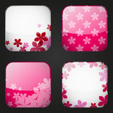 Floral apps icons Stock Photos