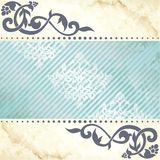 Floral arabesque background in blue and gold royalty free illustration