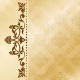 Floral arabesque background in sepia tones Stock Photo
