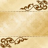 Floral arabesque background in sepia tones Stock Photos