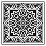 Floral arabic pattern. Black and white floral arabic pattern, vector royalty free illustration