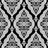 Floral arabic pattern. Black and white floral arabic pattern, vector vector illustration