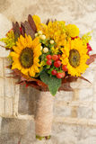 Floral arrangement autumn themed wedding Royalty Free Stock Images
