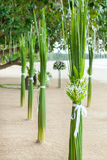 Floral arrangement  on the beach. Royalty Free Stock Photo