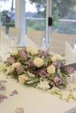 Floral arrangement on bridal table Stock Image