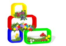 Floral arrangement, cdr vector Stock Image