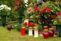 Floral arrangement cemetery Stock Images