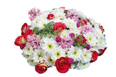 Floral arrangement, Chrysanthemum and roses in flower bouquet Stock Photography