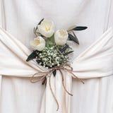 Floral arrangement in draped fabric. Interior design, arrangement. Stock Image
